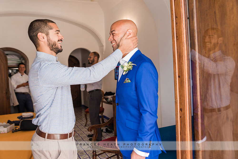 Groom with his brother