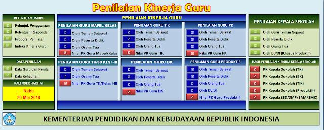 UpDate Aplikasi Penilaian Kinerja Guru Kementrian Pendidikan dan Kebudayaan Republik Indonesia