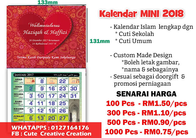custom made design kalendar