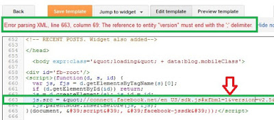 Blogger template Error parsing XML