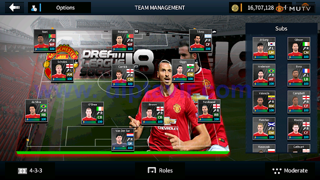 DLS 2018 MOD Manchester United Base APK V5.04 Unlimited Coins MOD By Diptavir