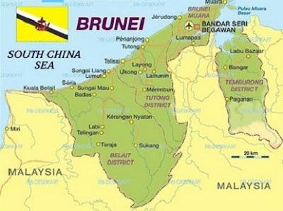 Letak astronomis dan geografis - Brunei Darussalam - berbagaireviews.com
