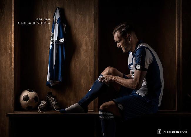 Nueva camiseta titular Lotto del Deportivo La Coruña para el 2016/2017