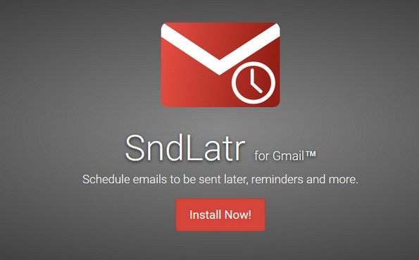 SndLatr powerful scheduling extension for Gmail