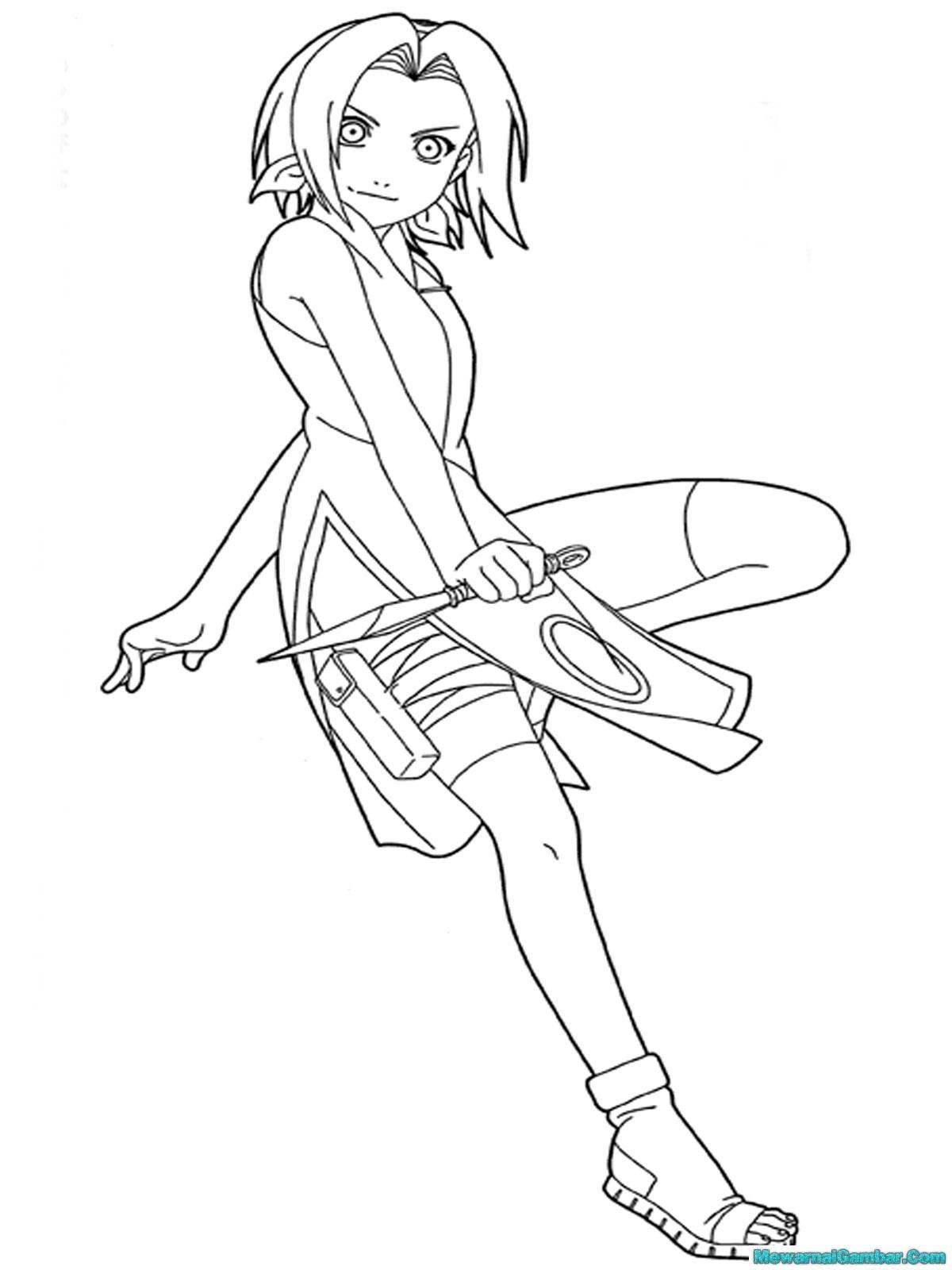 Aneka Gambar Kartun Naruto Untuk Mewarnai