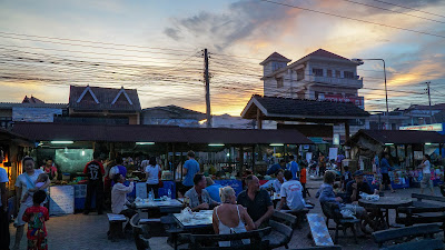 Watching the sunset from the night market in Luang Namtha