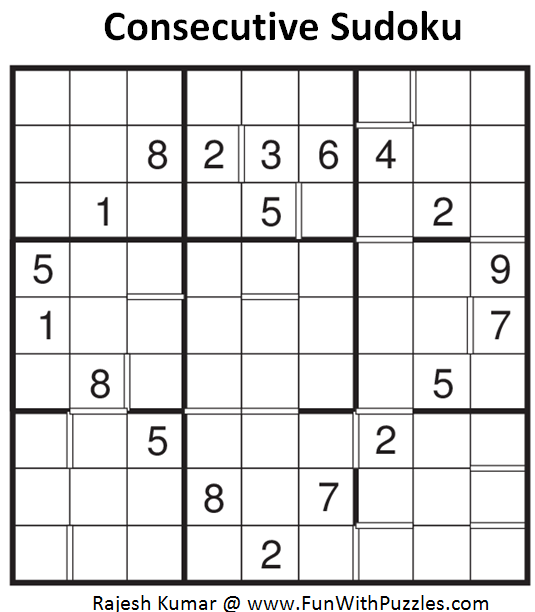Consecutive Sudoku (Fun With Sudoku #86)
