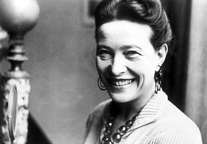 La philosophe et écrivain Simone de Beauvoir