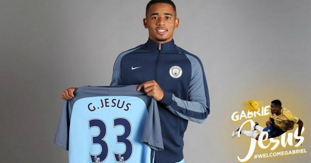 Gabriel Jesus foi apresentado no Manchester City