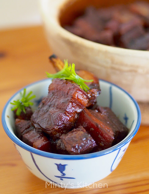 hong shao rou (red cooked pork belly)