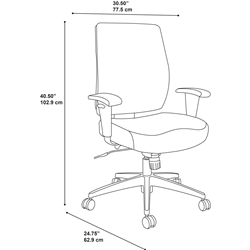 bush chair dimensions