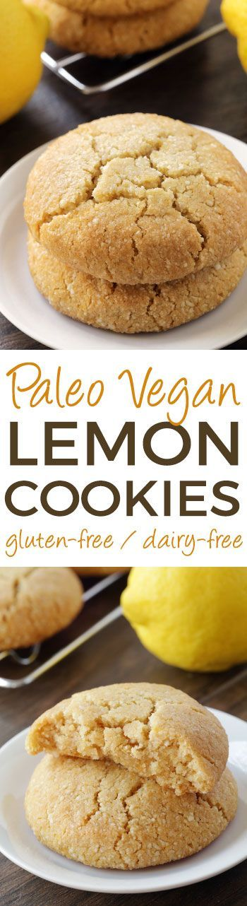 These soft and chewy paleo lemon cookies are vegan, grain-free, gluten-free, and dairy-free. The reviewers love them! #paleo #vegan #glutenfree #grainfree #dairyfree #lemon #healthy #dessert #cookies