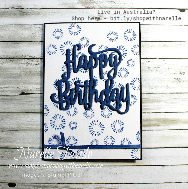 Want simple but effective birthday cards, then check these out. Made with just a couple of items, the definitely fit the bill for quick and easy. Get all your card making and crafting supplies here - http://bit.ly/shopwithnarelle