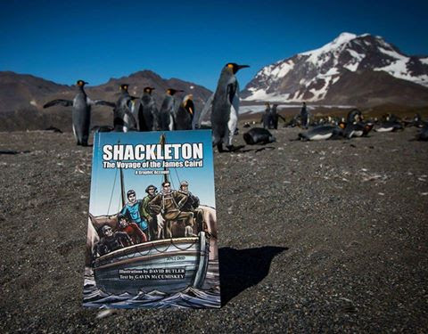 Our book in Antarctica
