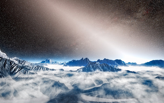 Artist's impression of bright exozodiacal light