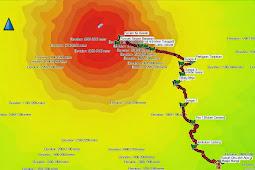 Tracklog GPS Pendakian Sumbing Via Mangli