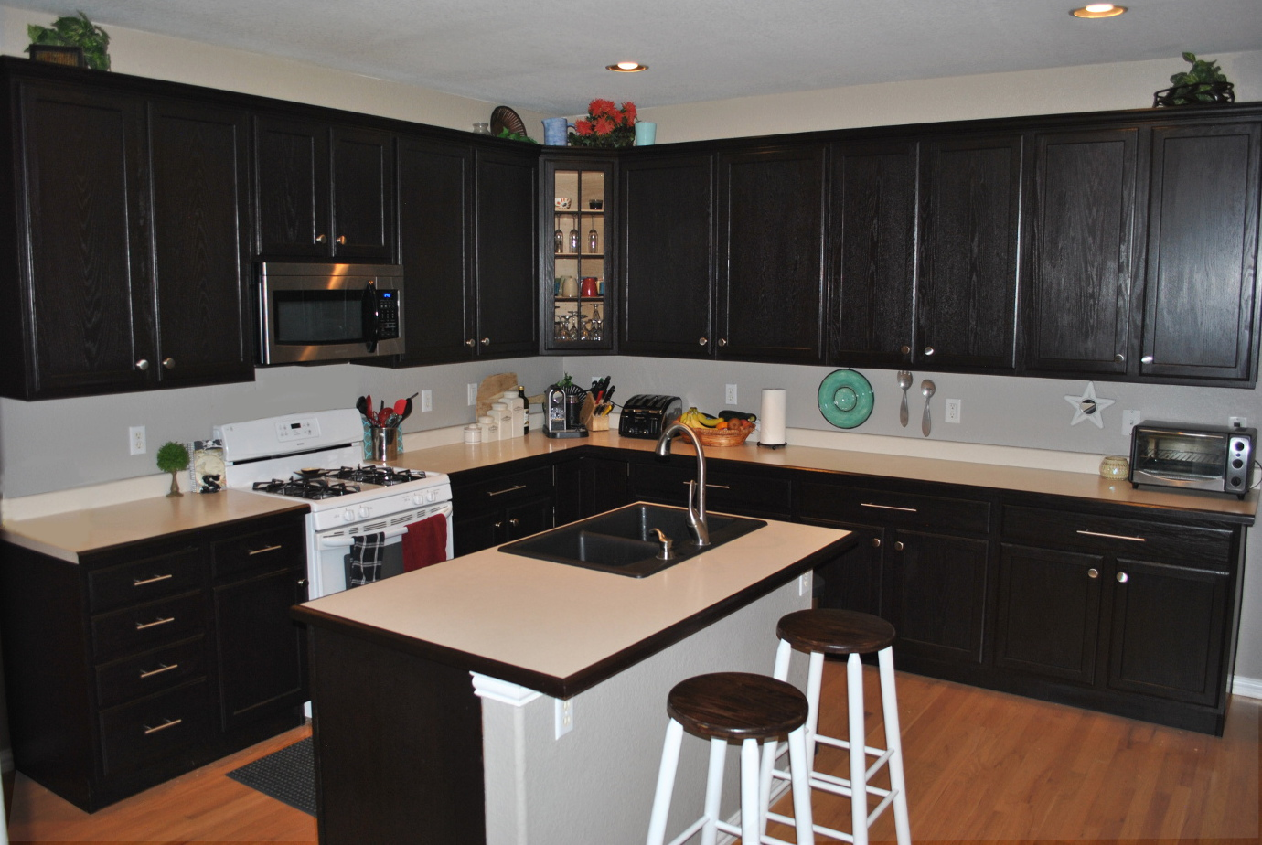 diy expresso kitchen cabinets yes please kitchen cabinet stain DIY Expresso Kitchen Cabinets Yes Please