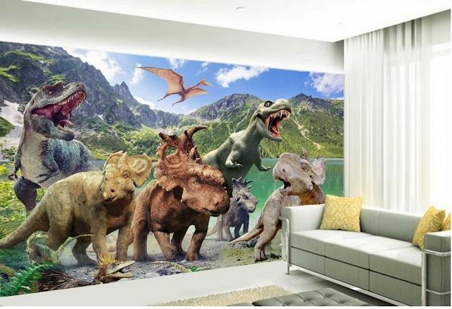 Dinosaur Wall Mural 3D