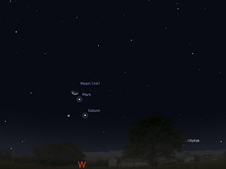 Astroblog: The Moon visits the triangle of Mars, Spica and ...