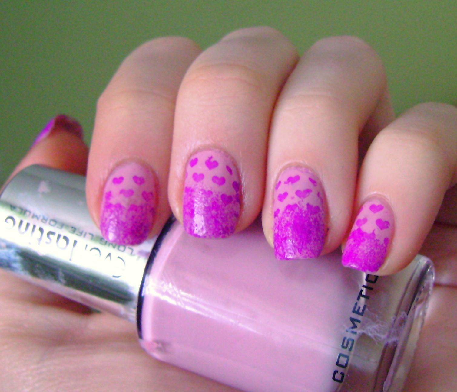 acrylic nail art designs: Valentine's Day manicure
