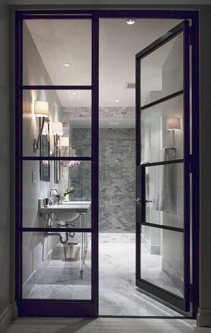 Desain Pintu Kamar Mandi Mewah dari Kaca