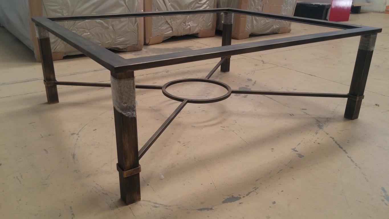 Mesas elevable y con brasero y para camilla en forja - Mesa para brasero ...