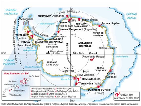 Antártica, Aspectos Geográficos da Antártica