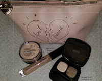 haul review I Love My Best Friend set bag mineral veil BARE escentuals eyeshadow Presto Flicker swatch