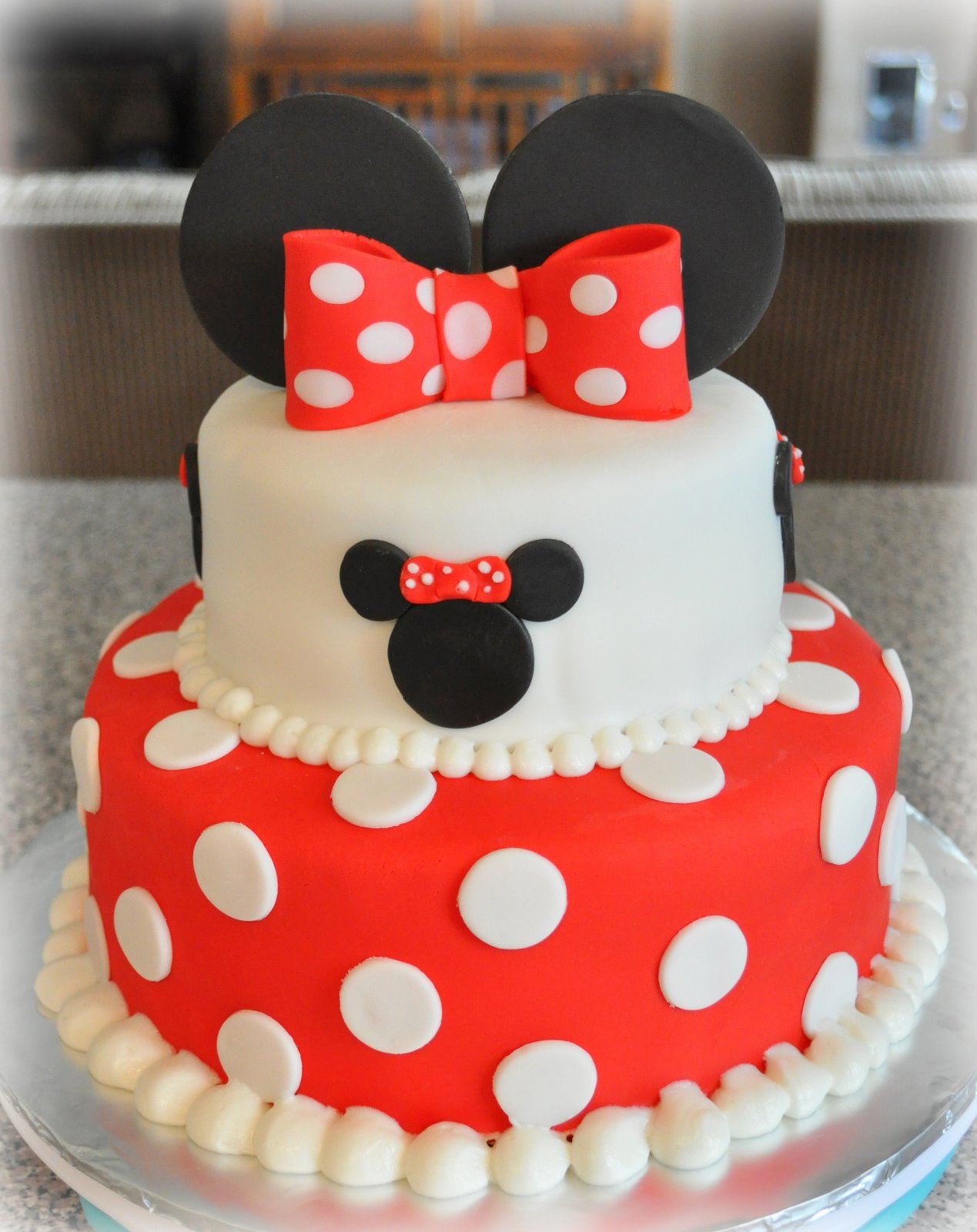 Just Being Judy 2 Tier Minnie Cake