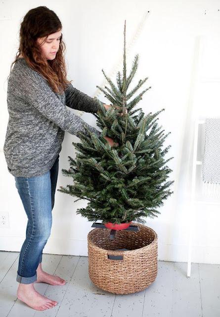 base prá árvore de Natal