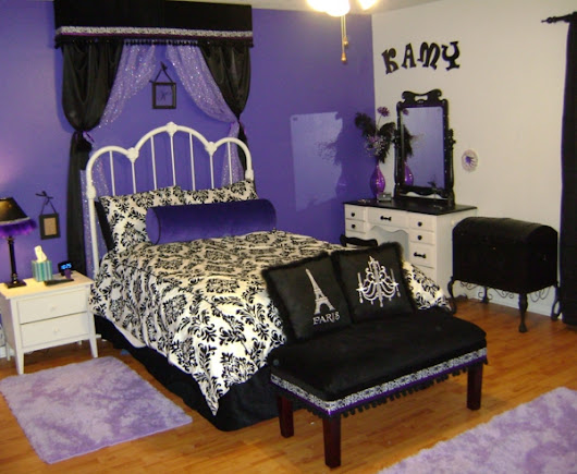 Stylish Girl Room Purple Black