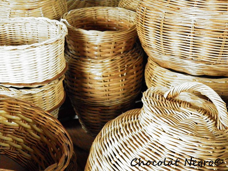 These baskest are made by Welile Melane and are woven in the Mdantsane Arts Center