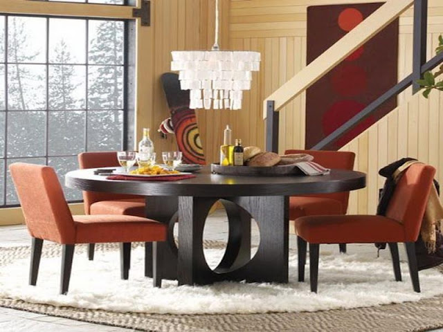 Modern Room with Round Dining Tables Modern Room with Round Dining Tables 14