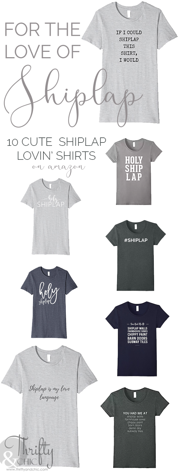 Shiplap shirts or farmhouse themed shirts for shiplap and farmhouse lovers!