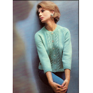 Cable Cardigan Knitting Pattern with Long Sleeves