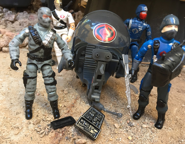 2005 Comic Pack Firefly, Zartan, Black Major, 1997 Trouble Bubble, Flight Pod, Red Laser Army, 2018, Crimson Guard, Cobra Mortal, Stormshadow, Cobra Trooper
