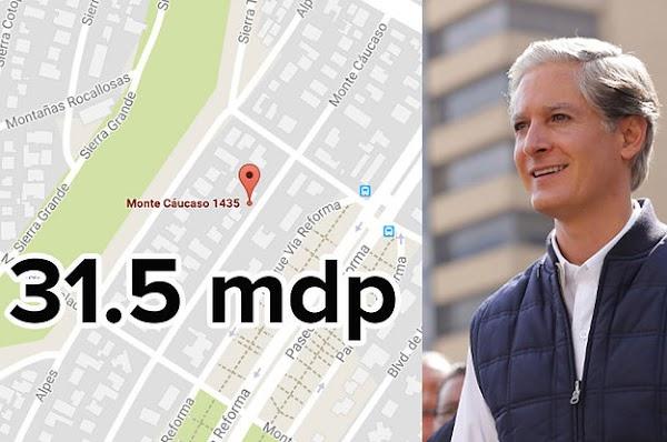 Alfredo Del Mazo ocultó el precio real de su casa en las Lomas: vale 31.5 millones y no 5.3, como declaró