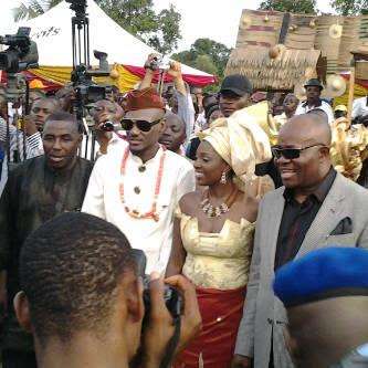 governor akpabio wedding gifts 2face idibia