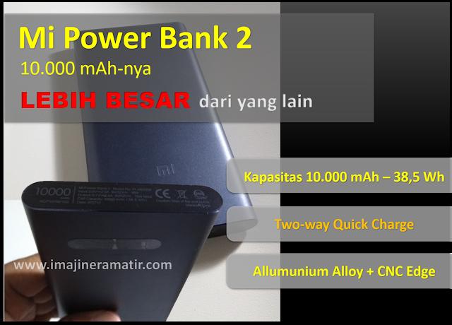 Pada kesempatan kali ini aku akan kembali membahas power bank Review Mi Power Bank 2, Kapasitas 10.000 mAh-nya Lebih Besar dari Power Bank Lain
