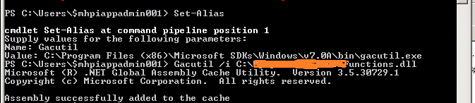 Install or UnInstall Assembly dll into GAC using PowerShell