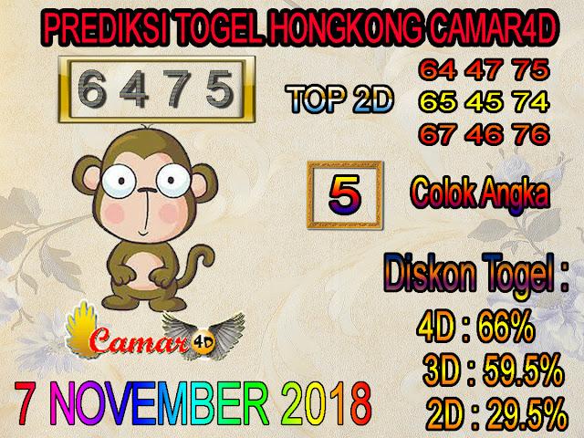 Prediksi Togel Hongkong 7 November 2018