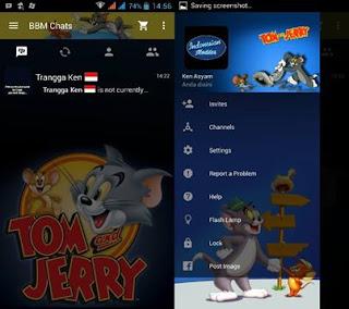 BBM Mod Tema Kartun Apk Terbaru Versi 2.11 Lengkap