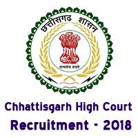 Chhattisgarh High Court Jobs Recruitment 2018 – Stenographer 61 Posts