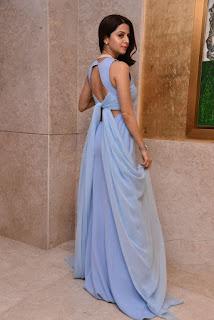 Vedhika In Blue Long Dress