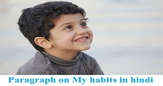 Paragraph on My habits in hindi