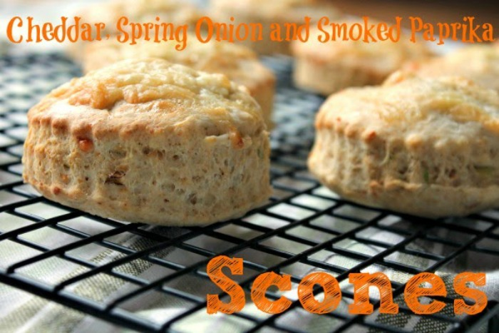 Cheddar, Spring Onion and Smoked Paprika Scones