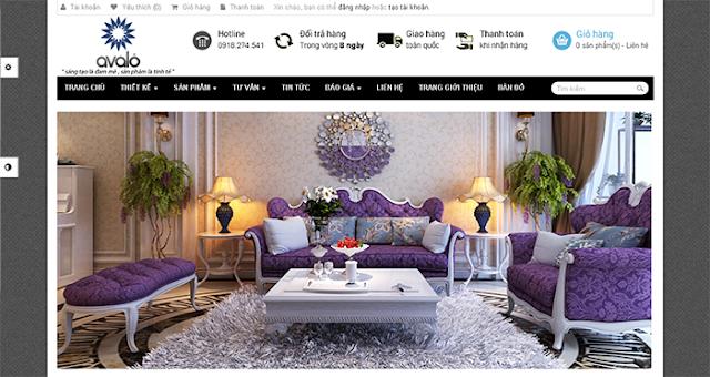 Thiết kế website nội thất, công ty kiến trúc xây dựng
