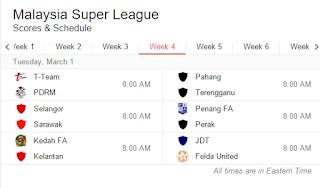 keputusan liga super 1.3.2016