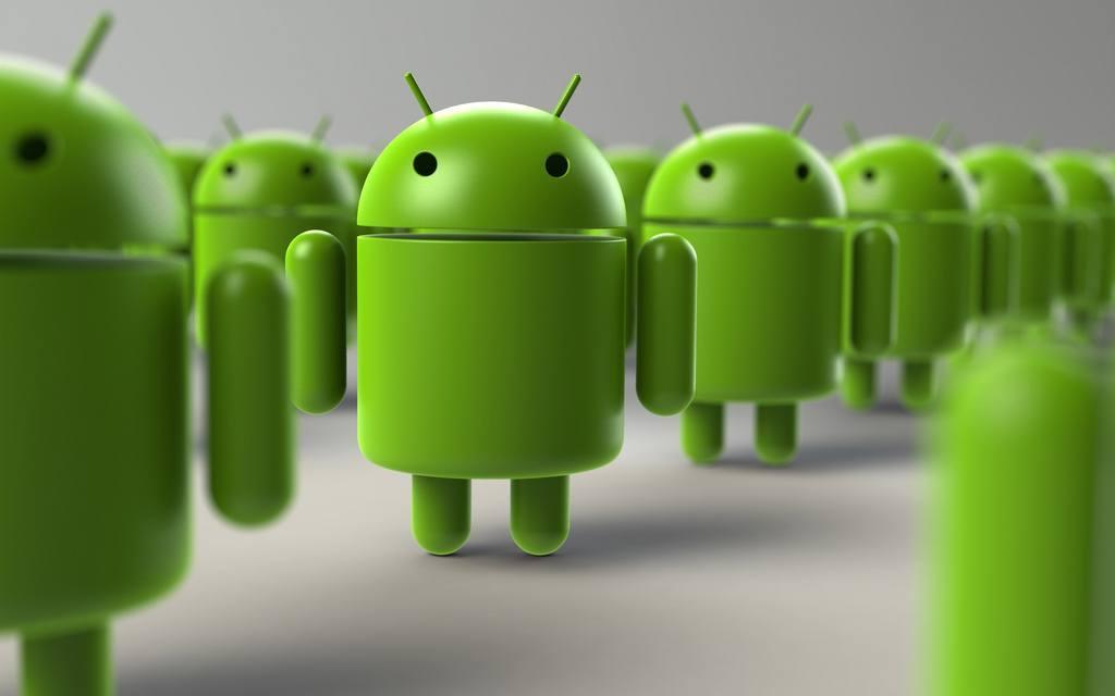 logo smartphone android adalah robot hijau