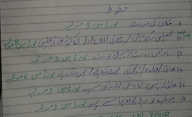 Urdu Important Letters